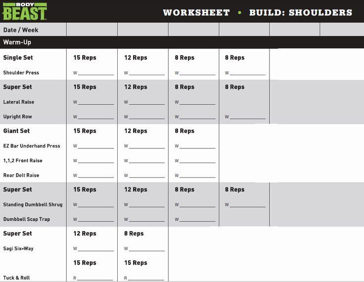 Printable Body Beast Schedule Zillafitness Body Beast Workout Schedule Body Beast Workout Beast Workout