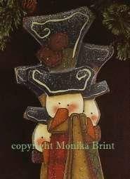 Jingle Bell Snowman-Primitive Snowmen-Christmas Decoration-Christmas Ornament-Snowmen-Country Winter-Original Design