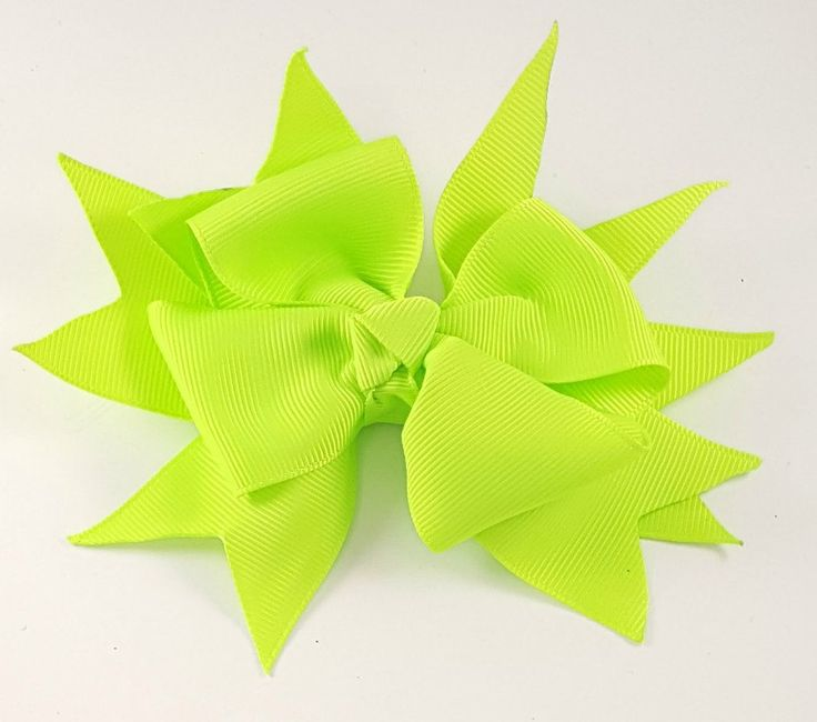 Neon Green Hair Bow, Boutique Hair Bows, Girls Hair Bows, Hair Bow Clips, Toddler Hair Bows, Toddler Hair Clips, Hair Bows For Babies, Big by BethysBowsAndMore on Etsy