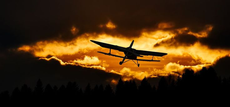 Reise, Fliegen, Flugzeug, Himmel