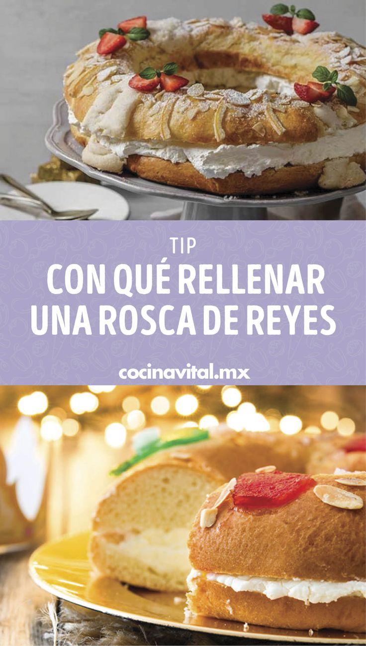 Úntale el ingrediente que más se te antoje. ¡Todos a comer Rosca de Reyes! Relleno, Camembert Cheese, Baking, Dessert Recipes, Beverages, Christmas Dinners, Bagels, Bakken, Backen