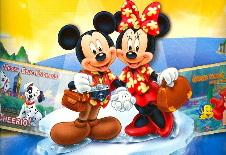 Mickey and Minnie on vacation!