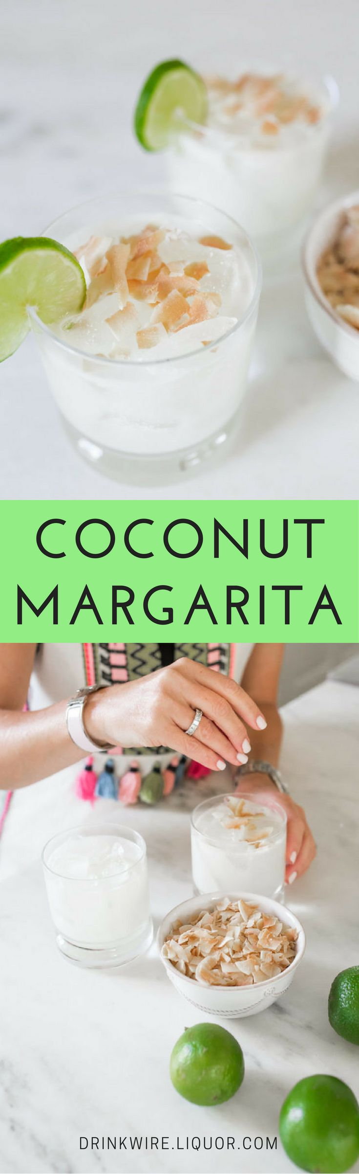 The Coconut Margarita is the cool, creamy, refreshing cocktail that you didn't know you needed! Coconut cream and coconut water (delicious and healthy!) add an extra tropical flavor the the time-standing classic.