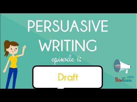 What is persuasive writing? What does it mean to persuade or convince someone of my opinion? Who can I persuade? How can I do it? Watch this video to find ou...