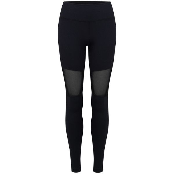 VARLEY Sycamore Compression Tight Leggings - Black ($94) ❤ liked on Polyvore featuring activewear, activewear pants, black and varley