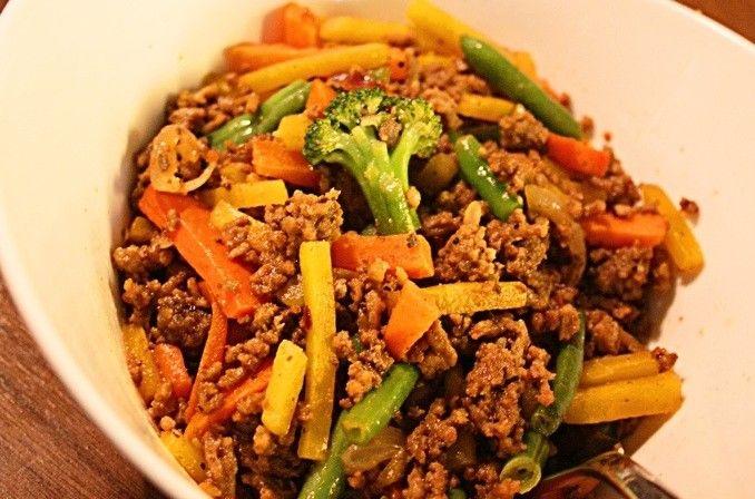 Nu laddar vi inför en ny kul vecka med 5.2 dieten och då behövs lite nya inspirerande recept! Jag har gjort en smarrig köttfärsröra med frästa grönsaker