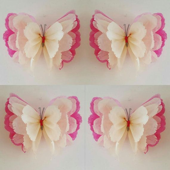 Handmade made to order beautiful butterflies/ pom poms These delightful Pom poms are the perfect decoration to brighten up any room/space to be admired by everyone. They are perfect for childrens birthdays or any special occasions. These pom poms are all handmade as shown in the pictures above please leave a message when ordering to let me know what colour is required pastel pink, yellow,turquoise, lilac,red, black,cadbury purple orange emerald green,peach,ivory,cerise…