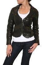 Women's Elizabeth and James Leather Corset Jacket in Black
