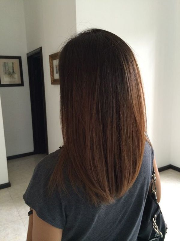 Simplicity is beauty and a simple straight cut, cascading down your shoulders is still a great style you can work. It doesn't need much attention but you could try some straightening iron or condition your hair to get it falling straight like this.