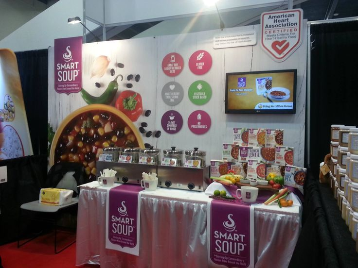 [Day 1] Our #WFFS15 Smart Soup Booth ready for action! #WinterFancyFoodShow2015 #SmartSoup