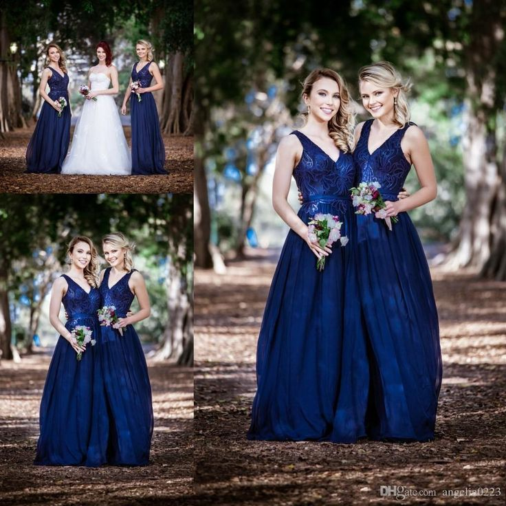 Navy Blue Long Bridesmaid Dresses 2016 Sequin Deep V Neck A Line Chiffon Bridesmaids Maid Of Honors Cheap Wedding Party Gowns Bridesmaids Dresses Australia Cheap Chiffon Bridesmaid Dresses From Angelia0223, $152.14| Dhgate.Com