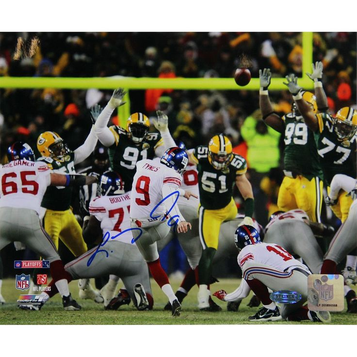 Lawrence Tynes Kick vs Green Bay Horizontal 8x10 Photo - Lawrence Tynes helped lead the New York Giants to Super Bowl XLVI as he kicked the game winning Field Goal in the NFC Championship game against the San Francisco 49ers. Tynes has signed this 8x10 photo of him kicking against the Green Bay Packers a Steiner Sports Certificate of Authenticity is included. Gifts > Collectibles > Nfl Memorabilia. Weight: 3.00