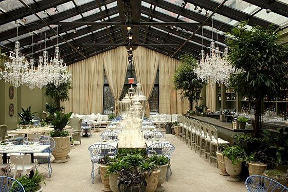 mondrian soho hotel greenhouse restaurant... how cool!
