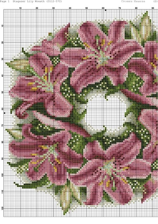 Stargazer Lily Wreath #3/4 ....... Gallery.ru / Фото #4 - 106 - kento