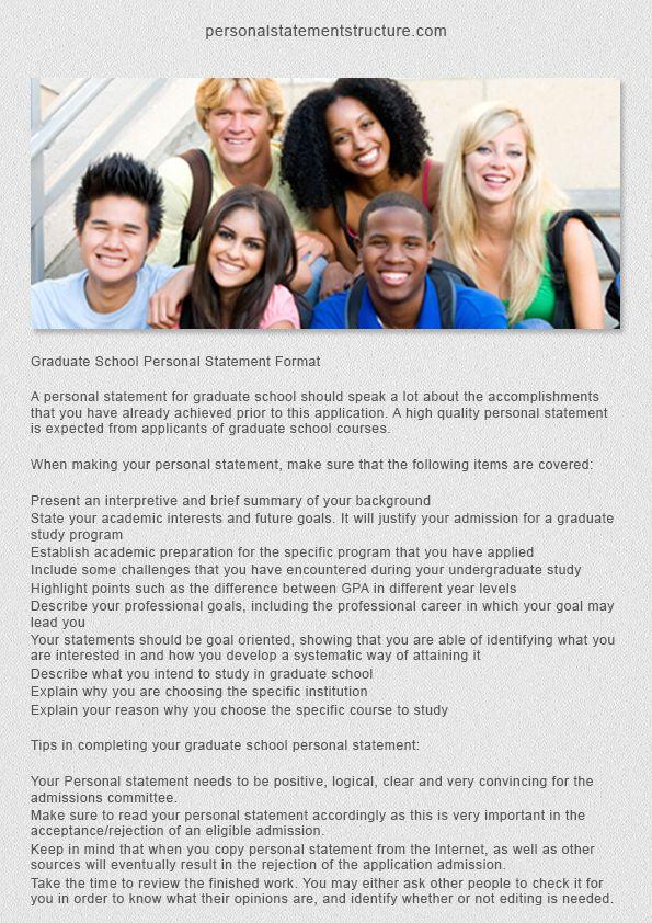 Personal statement structure postgraduate