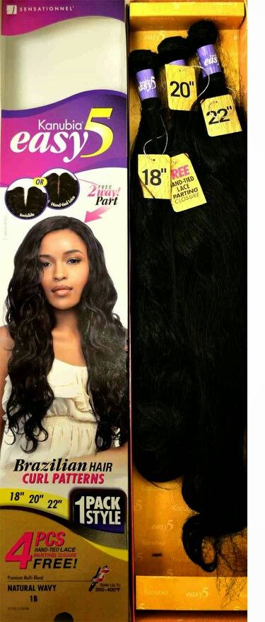 Kanubia Easy 5 Brazilian Curl invisible part weave