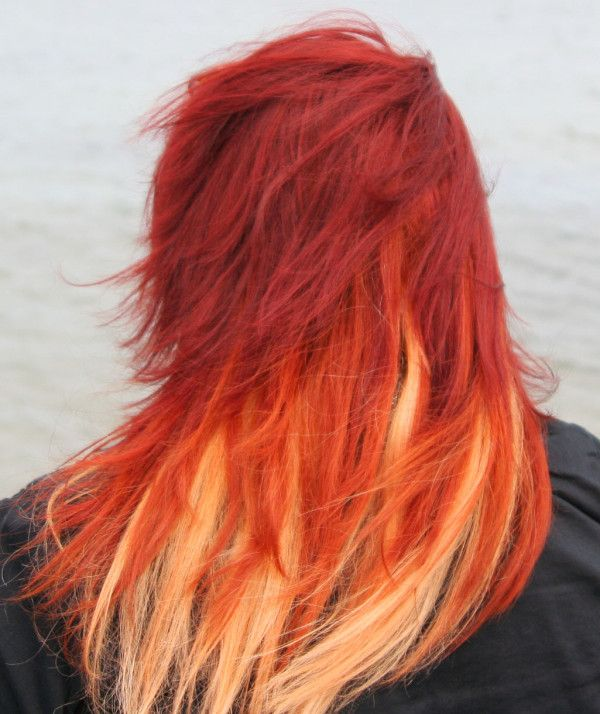 168 Best Red Orange Ombre Hair Images On Pinterest