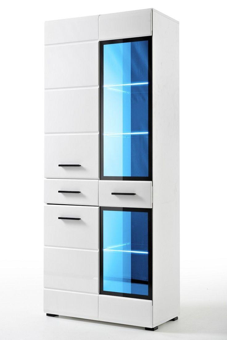BREMMEN SV biała witryna z podświetleniem LED