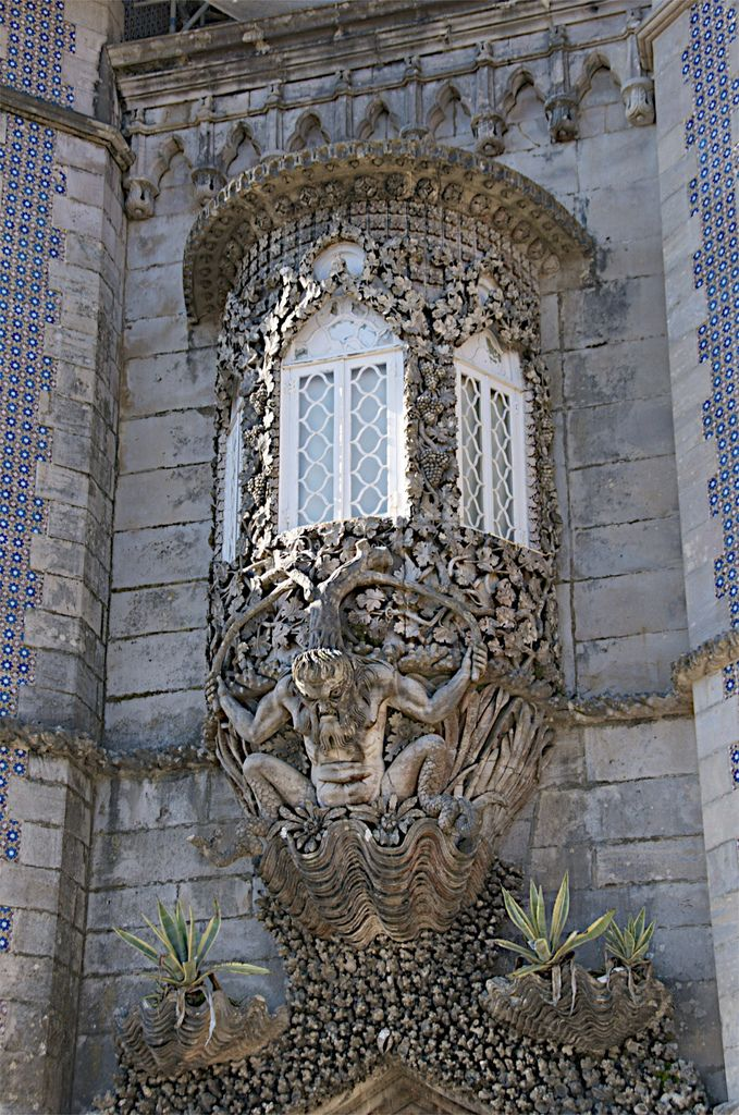 https://flic.kr/p/bxQBJz | Sintra. Portugal - 55 | The Triton, the allegorical gateway of the Creation, half man half fish and added to the original Monastary.
