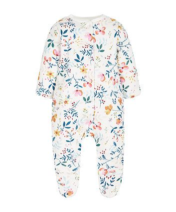 Pretty Forest Wadded Walk In Sleeper | onesies | Mothercare
