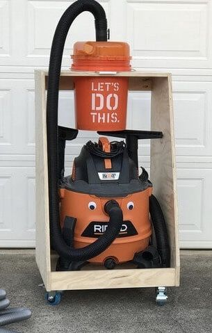 I need to make this! learn how to build a dust collection cart for you shop vac and dust separator.