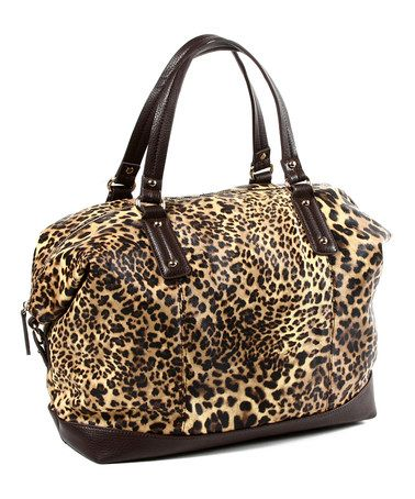 Take a look at this Natural Leopard Soho Weekender by Amrita Singh on #zulily today! $29 !!