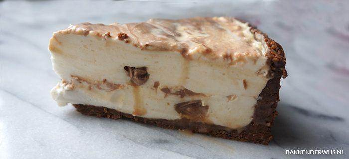 Mars kwarktaart recept | Bakkenderwijs #delicious #bakken #baking #mars #milkyway #kwarktaart #cheesecake #food