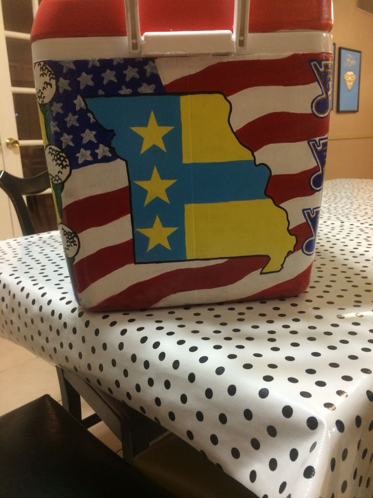 Fraternity formal cooler ATO flag, Missouri, American flag