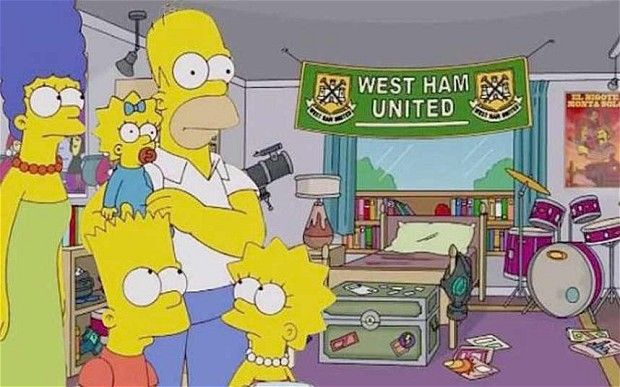 West Ham United become first team to 'appear' in The Simpsons - ( Dave ) Awesome! finding this out has made my day.