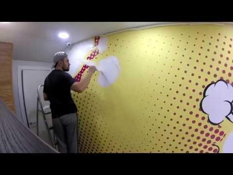 Участвую в росписи стен