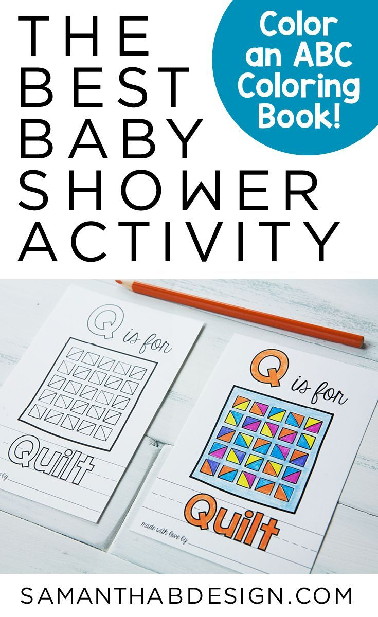 Book Baby Shower Activity Printable Abc Coloring Book Alphabet