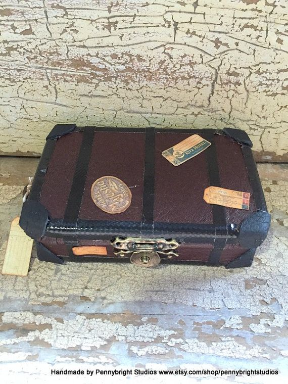 MADE TO ORDER Miniature Steamer Trunk / by PennybrightStudios
