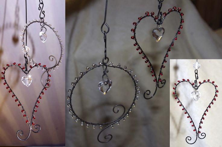 Krokpärla Luffarslöjd - Hjärta med pärlor