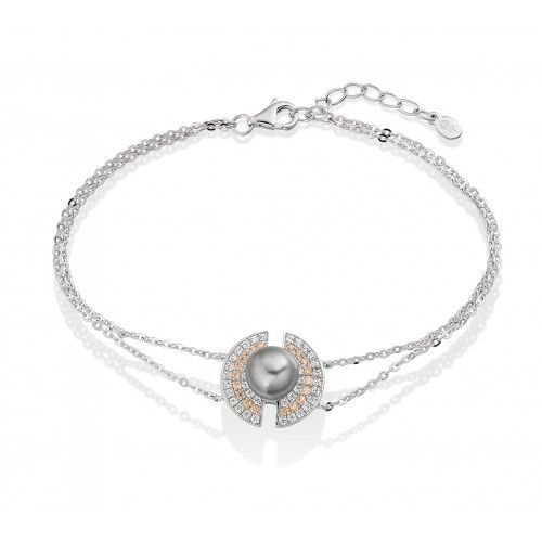 Glamorous  Romantic  Spontaneous - The Champagne Orb #Bracelet http://shardsoflondon.com/ #Jewellery #Jewelry #Pearl