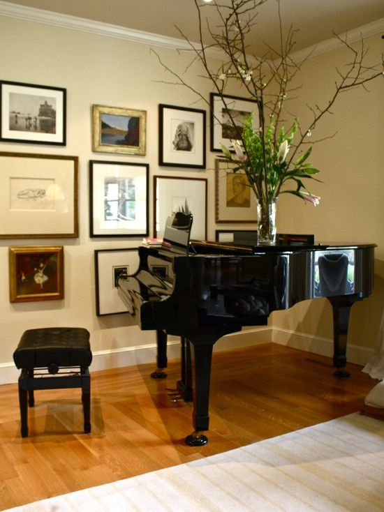 16 best decorating around a grand piano images on - Baby grand piano living room design ...