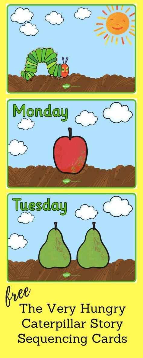 A set of mutli-use sequencing cards to support teaching on The Very Hungry Caterpillar. Great for whole-class reading or retelling, small group literacy centers, writing support or a display!
