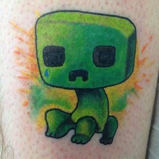 Minecraft Tattoo Ideas, Photos