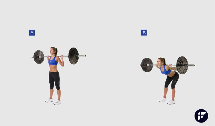 Good mornings exercise is a great alterntive to barbell deadlift exercise as it strengthens your hamstrings and tones your glutes while improving flexibility.