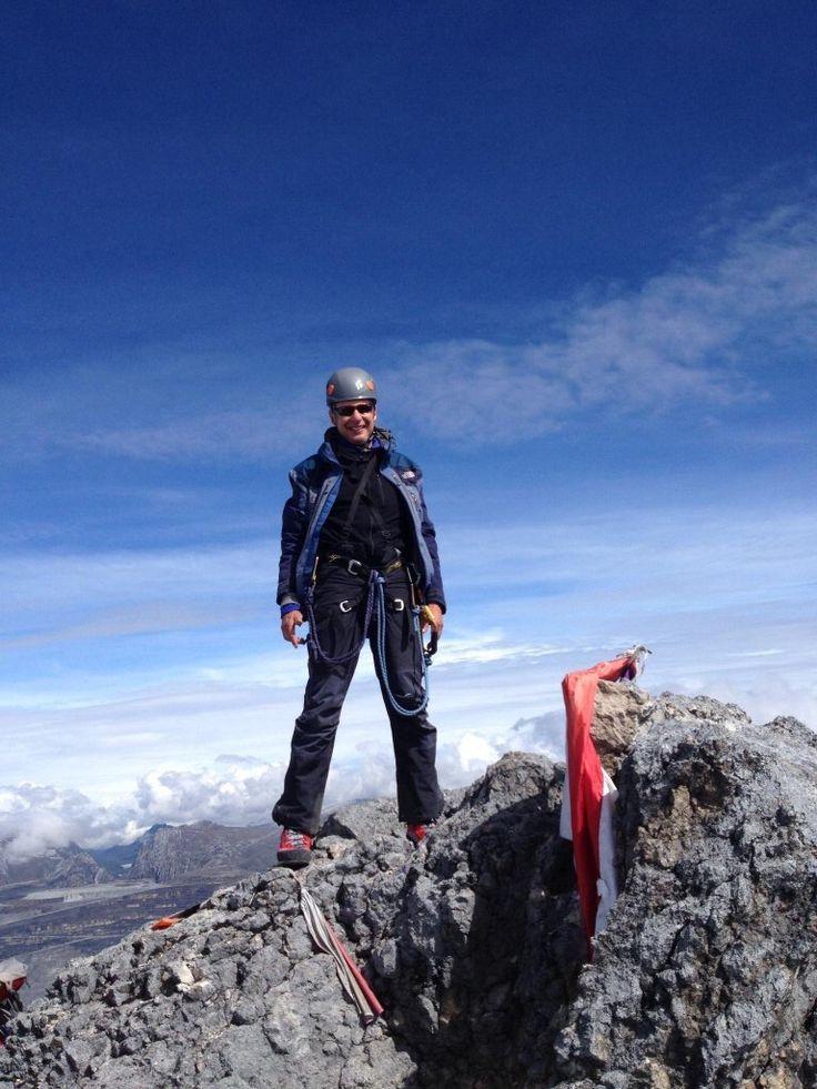Governor Gary Johnson at the summit of Carstensz Pyramid #6 of 7 Summits. Visit- www.garyjohnson2016.com