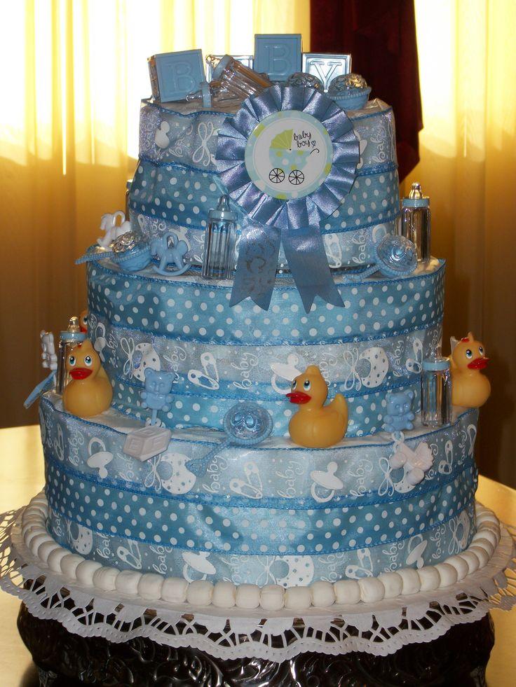 Diaper cake made for my niece