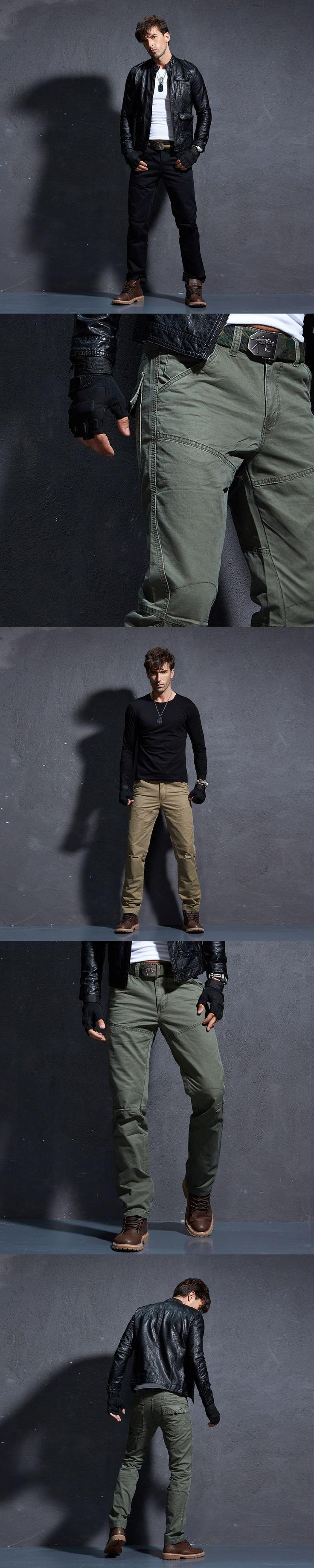 Baggy Cargo Pants Men Men's Military Tactical Pants Mens Militare  Winter Warm Denim Work Trousers.FA06