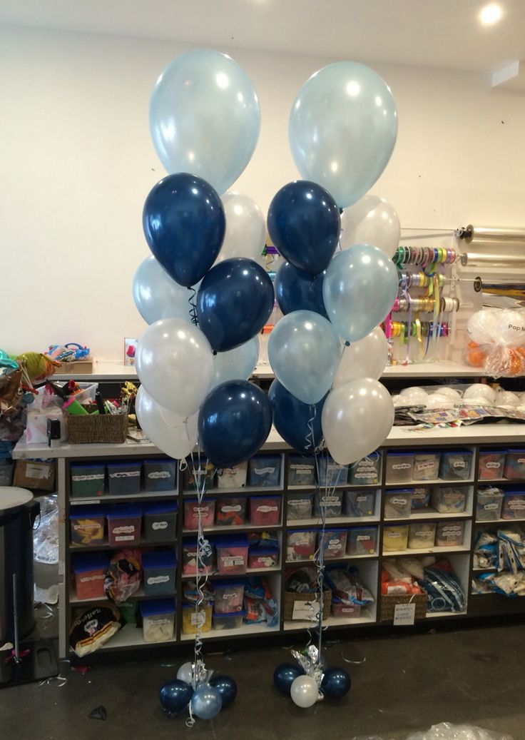 1000 images about balloons for baptism confirmation on for Balloon decoration color combinations