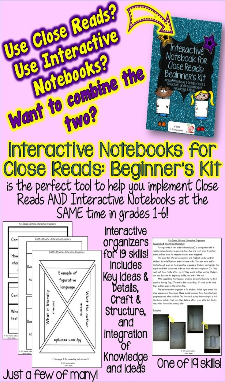 Interactive notebooks are a great way to engage your students in learning content. Close Reads are an important strategy to use to help your students read at a high level. Combine the two and you have an interactive way for your students to use higher-level thinking when reading texts! Students use these interactive organizers while doing Close Reads. This INB can be used during reading, science, or social studies, because we know how important integration of reading and the content areas…