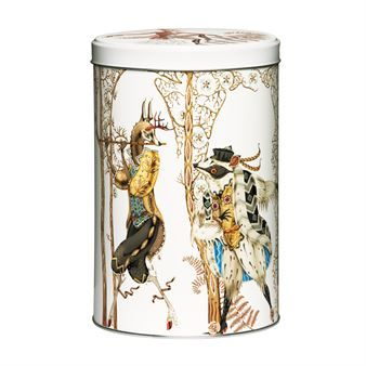 The beautiful Tanssi tin box from Iittala is designed by Klaus Haapaniemi and is inspired by the Czech opera