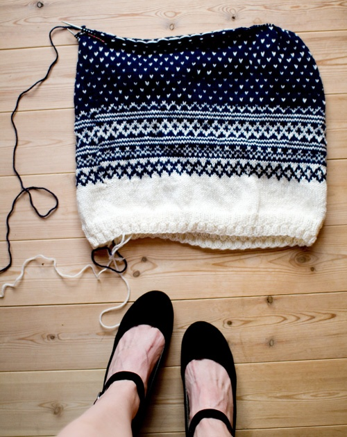 fair isle... for when I'm either really good at knitting, or really good at hating myself. Either one