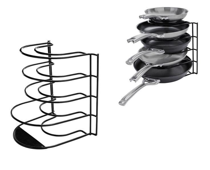 Пот Пан Организатор шкафа Новый черный кухонные принадлежности держатель полки шкаф кухонный для хранения | на eBay