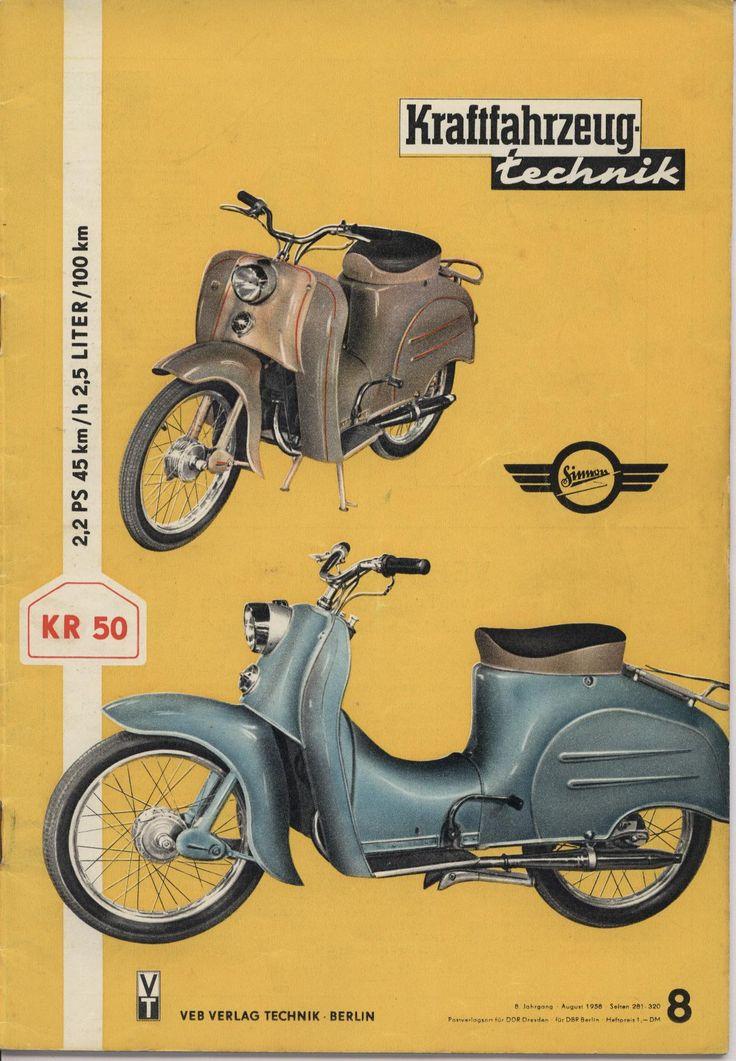 Simson KR 50 Werbeprospekte - DDRMoped.de
