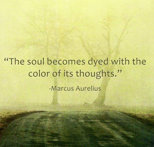 Marcus Aurelius Quotes: The soul becomes dyed... Marcus Aurelius Quote