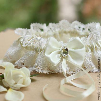 Подвязка невесты «Elegance». Handmade.