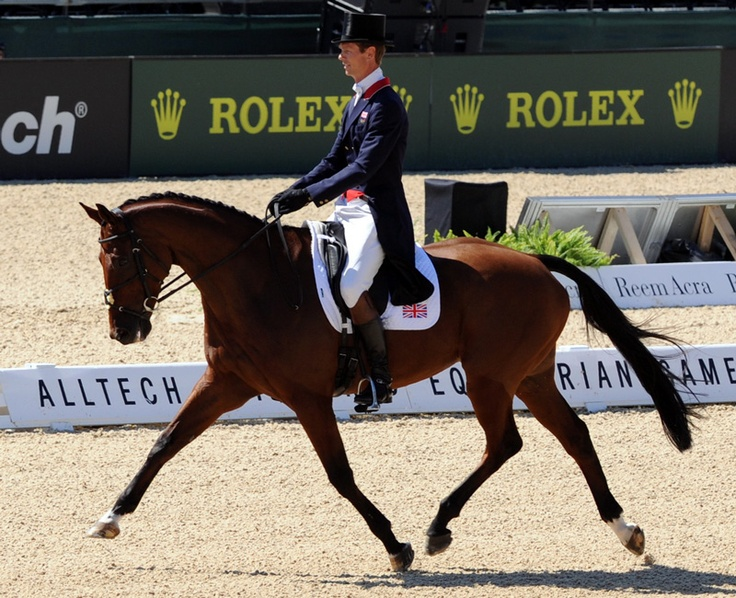 (william fox pitt) I will see grand prix dressage in person